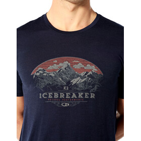 Icebreaker Tech Lite K2 Crest T-shirt Herrer, midnight navy